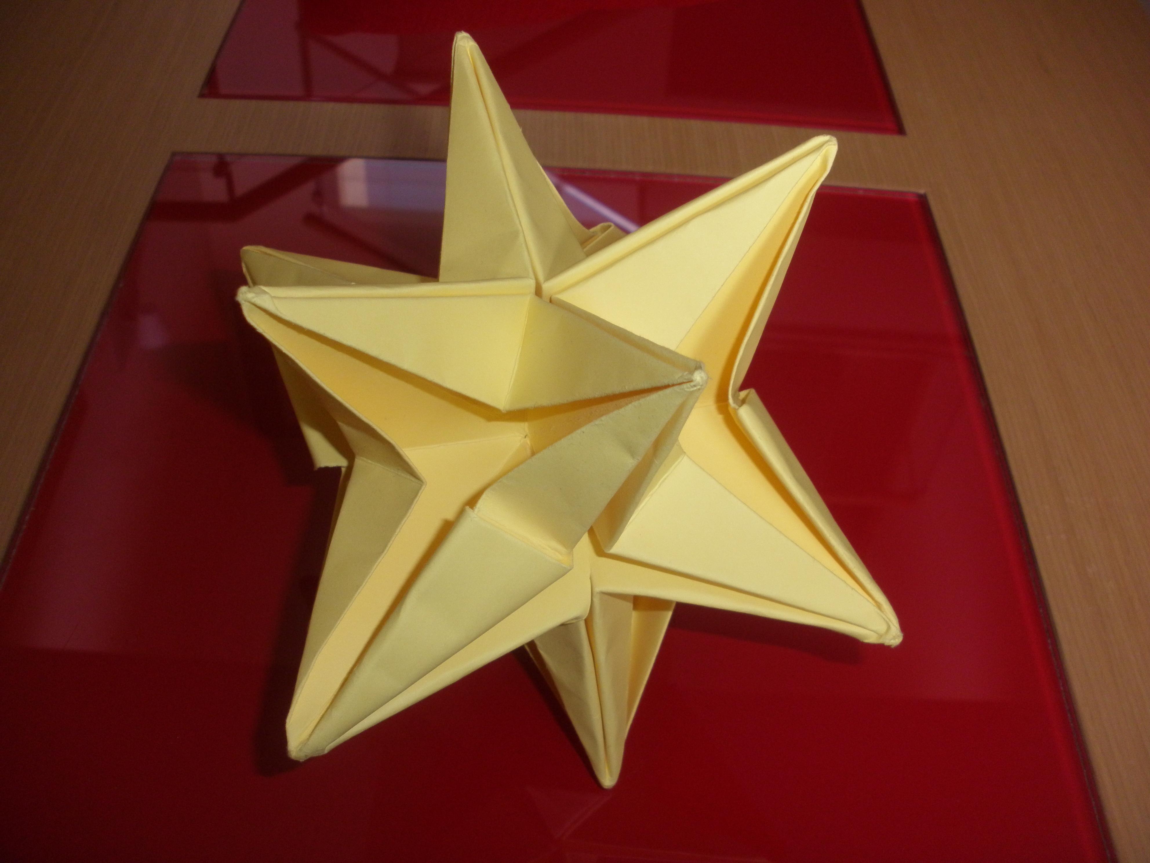 Mis obras de origami technoka - Origami de una estrella ...